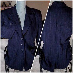 Dana Buchman Petite Wool & Nylon 3-Button Blazer